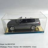 Boîte de présentation acrylique claire faite sur commande avec la base de miroir