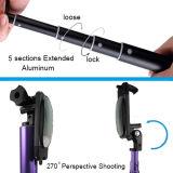 携帯電話のためのミラーが付いているMonopod BluetoothシャッターSelfieの棒の三脚