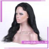 Gluelessの自然なヘアラインインドの女性の毛の完全なレースの前部かつら