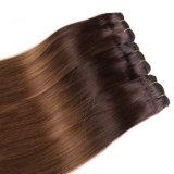 Grado superiore 7A gruppi di trama dei capelli dell'onda del corpo di Ombre di tono del Cambodian 3 dei 3 gruppi con la chiusura del merletto