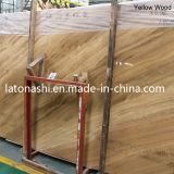 Желтое Wooden Vein Marble Slab для Floor, Wall, Vanity, Table