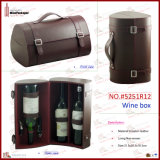 Elegent Imitation Leather Multi Bottle Wine Box (5251R12)