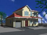 2층 강철 구조물 조립식 집 (KXD-pH115)