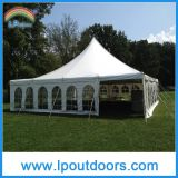40X40' Outdoor Steel Frame High Peak Wedding Marquee 폴란드 Tent