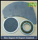 Disco tecido do filtro de engranzamento do fio do aço inoxidável, filtro do aço inoxidável