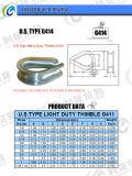 Cosse normale de câble métallique G414