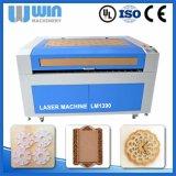 цена автомата для резки ткани кожи пробки лазера 100W Reci миниое