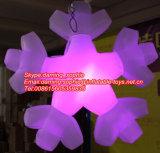 De opblaasbare Ballon van de Sneeuw met LEIDENE Lichten voor Decoratie