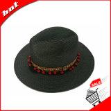 Черный шлем Sun Панамы сторновки бумаги способа