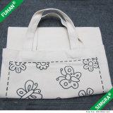 Sacchetto di Tote personalizzato commercio all'ingrosso della tela di canapa del cotone