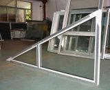 Белое окно K02023 треугольника Fix профиля цвета UPVC