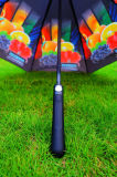 Ombrello antivento di golf della vetroresina piena di stampa con il marchio di Customerized (GOL-0027FAC)