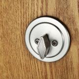 La entrada de alta calidad de aleación de zinc de manija cerradura de puerta de níquel satinado