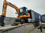 máquina escavadora hidráulica da roda 4WD, máquina escavadora 4X4 para a venda