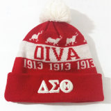 para guardar 100% hombres calientes y a mujeres de la gorrita tejida del casquillo del acrílico/de las lanas del sombrero como el casquillo bordado casquillos hecho punto
