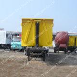 덤프 트럭 반 유압 트레일러를 기울이는 상자 바디 화물