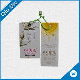 Hangtag de papel impreso fabricación de China para la ropa, zapatos,