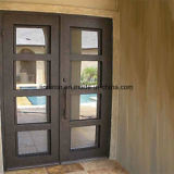 Quadratische oberste einfacher Entwurfs-bearbeitetes Eisen-Türen mit reflektierendem Glas
