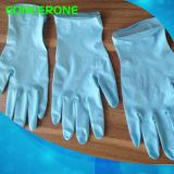 Перчатки нитрила рассмотрения цвета высокого качества голубые