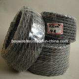 Tres conductor trenzado, alambre trenzado, cable de materia textil (UL VDE SAA)