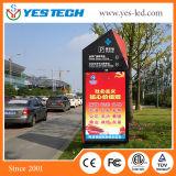 Cor cheia que anuncia a tela de indicador video do poster do diodo emissor de luz da rua