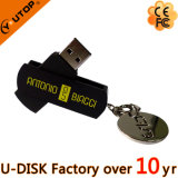 Pivotant Hot Metal plastique USB Flash Drive (YT-1118)