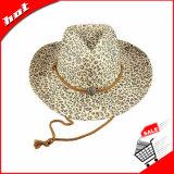 Sombrero de vaquero del sombrero de paja del papel de imprenta