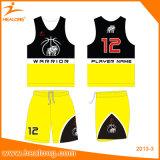 Healongは高品質のバスケットボールの摩耗のデザイン昇華バスケットボールのユニフォームをカスタマイズした