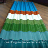 Feuilles ondulées colorées de toiture de Dx52D