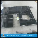Migliori controsoffitti neri assoluti Polished su ordinazione della cucina della pietra del granito dello Shanxi