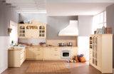 De Keukenkast van de hoogste Kwaliteit PVC+MDF met de Modellering van de Plank van de Deur (zc-077)