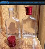 Bottiglia di vino libera di spirito di vetro bevente