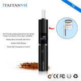 Vaporizador seco ocultado de la hierba del cigarrillo electrónico de la visualización 1200mAh de OLED