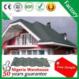 Tuiles de toit enduites de vente de l'Afrique de pierre chaude de poids léger pour la villa