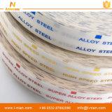 Etiqueta adhesiva transparente de encargo impermeable de acero