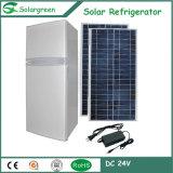 Refrigerador accionado energía solar del refrigerador del congelador del compresor de la C.C.