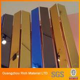 Het lichte Gouden & Donkere Acryl Plastic Blad van de Spiegel Gloden voor het Tonen van Zaal