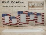 Diseño de madera del diseño de la bandera de los