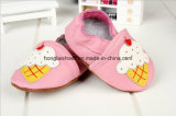 ヒツジパターン: 革赤ん坊靴
