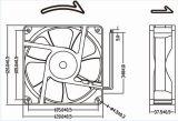 ventilateur axial de C.C de 12V 24V 48V 4wires PWM 120mm 12038 120X120X38mm