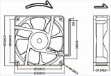 12V 24V 48V 4wires PWM Gleichstrom-axialer Ventilator 120mm 12038 120X120X38mm