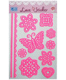 DIY cor-de-rosa Lace Sticker para Making Card (PV104PK)
