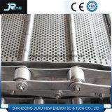 Alta calidad en acero inoxidable placa 304 Cadena Cinta transportadora para la secadora