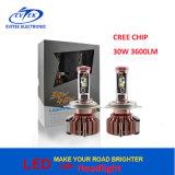 최신 판매 크리 말 Xhp50 30W 3000lm H1 H4 H7 9005 9006대의 차 LED 헤드라이트