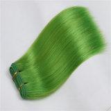 다채로운 합성 머리 씨실 100% 방열 섬유 고품질 머리 연장 형식 머리 길쌈