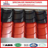 亜鉛によって塗られる波形を付けられた金属の屋根ふきシートを着色しなさい
