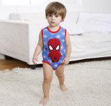 Weste-Spiderman gedruckter Großhandelsspielanzug des kundenspezifischen Qualitäts-Kindes Baumwoll