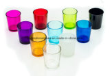Suporte de vela de vidro Votive colorido,