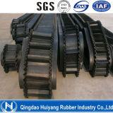 Bande de conveyeur avec le flanc dans Metallugy pour l'exportation