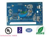 Placa do PWB de Enig de 4 camadas para o rádio com máscara azul da solda